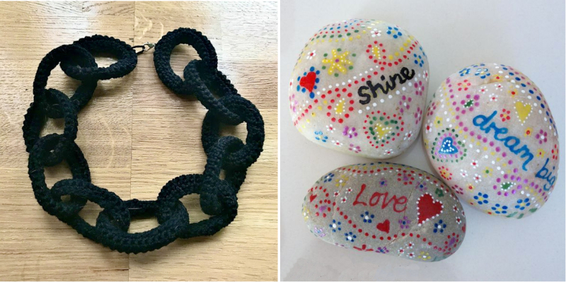 Crocheted-link-chain-necklace