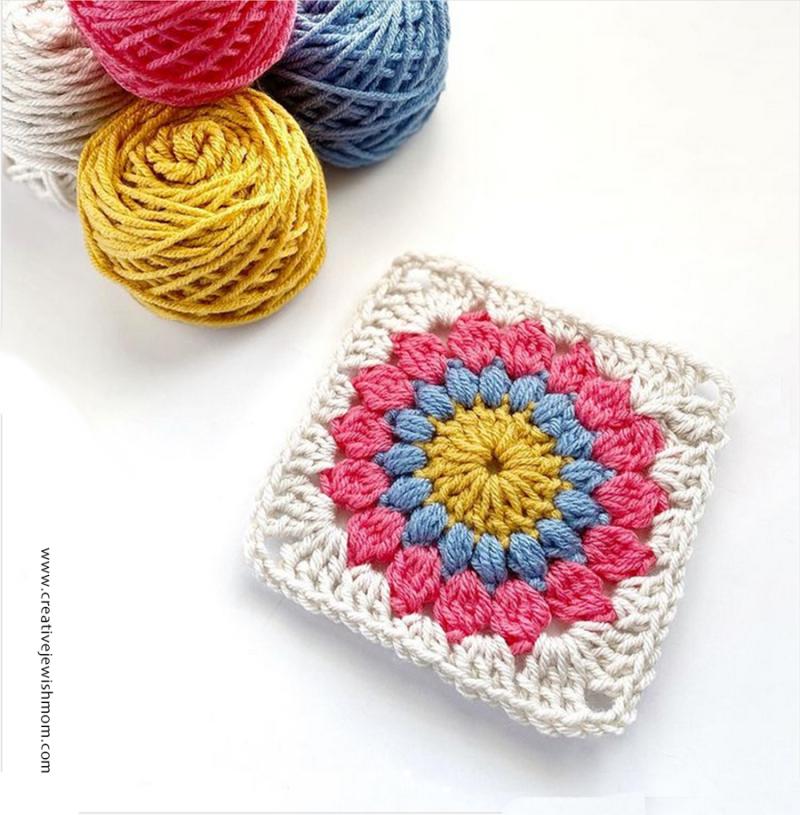 Crochet-granny-flower