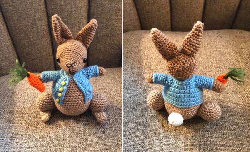 Crocheted-rabbit-toy