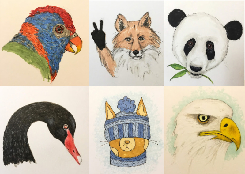 Daily-drawing-animals-copic-markers