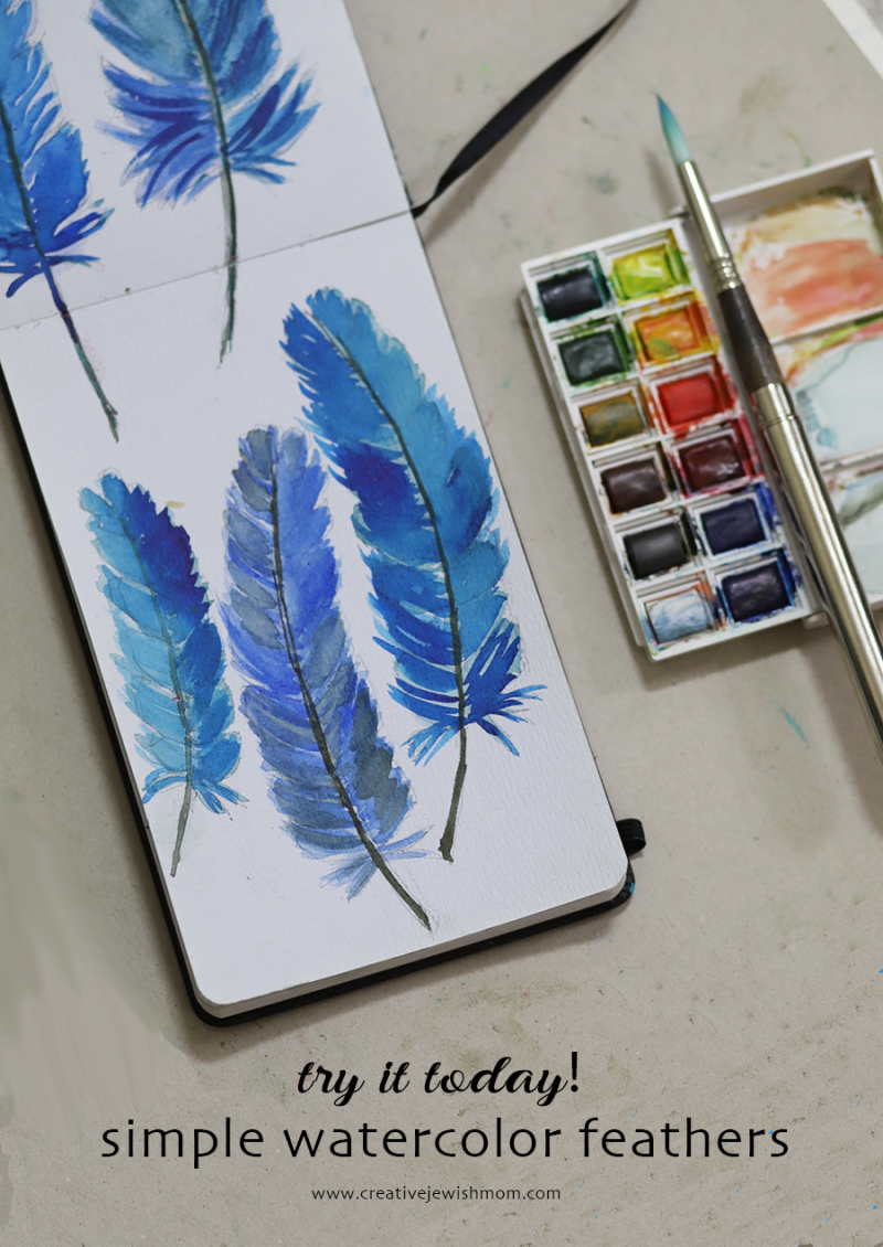 Simple-watercolor-feathers-to-paint