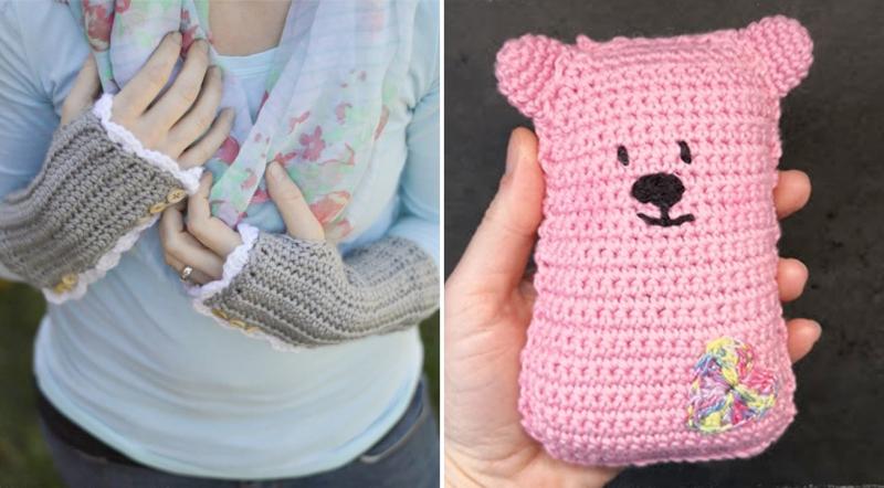 Crocheted-vintage-wrist-warmers