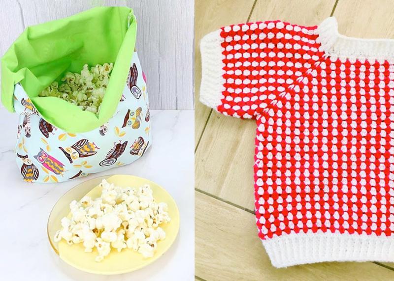 Crochet-red-white-granny-sweater