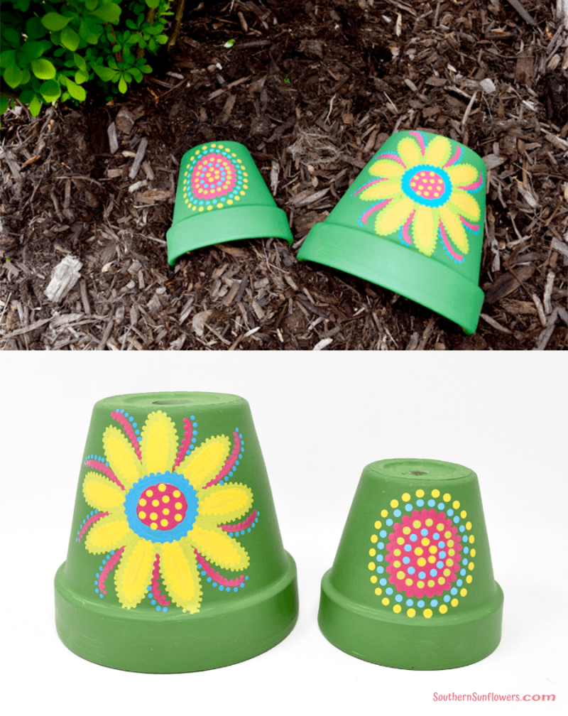 Painted-flower-pots-for-toads