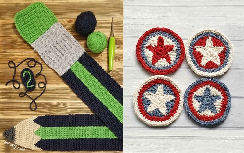 Crocheted-pencil-scarf