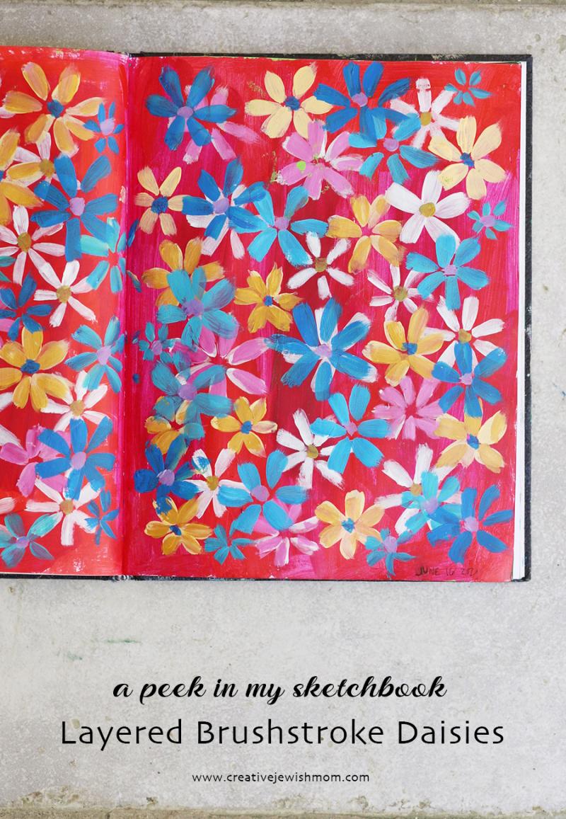 Sketchbook-brushstroke-daisies-painting