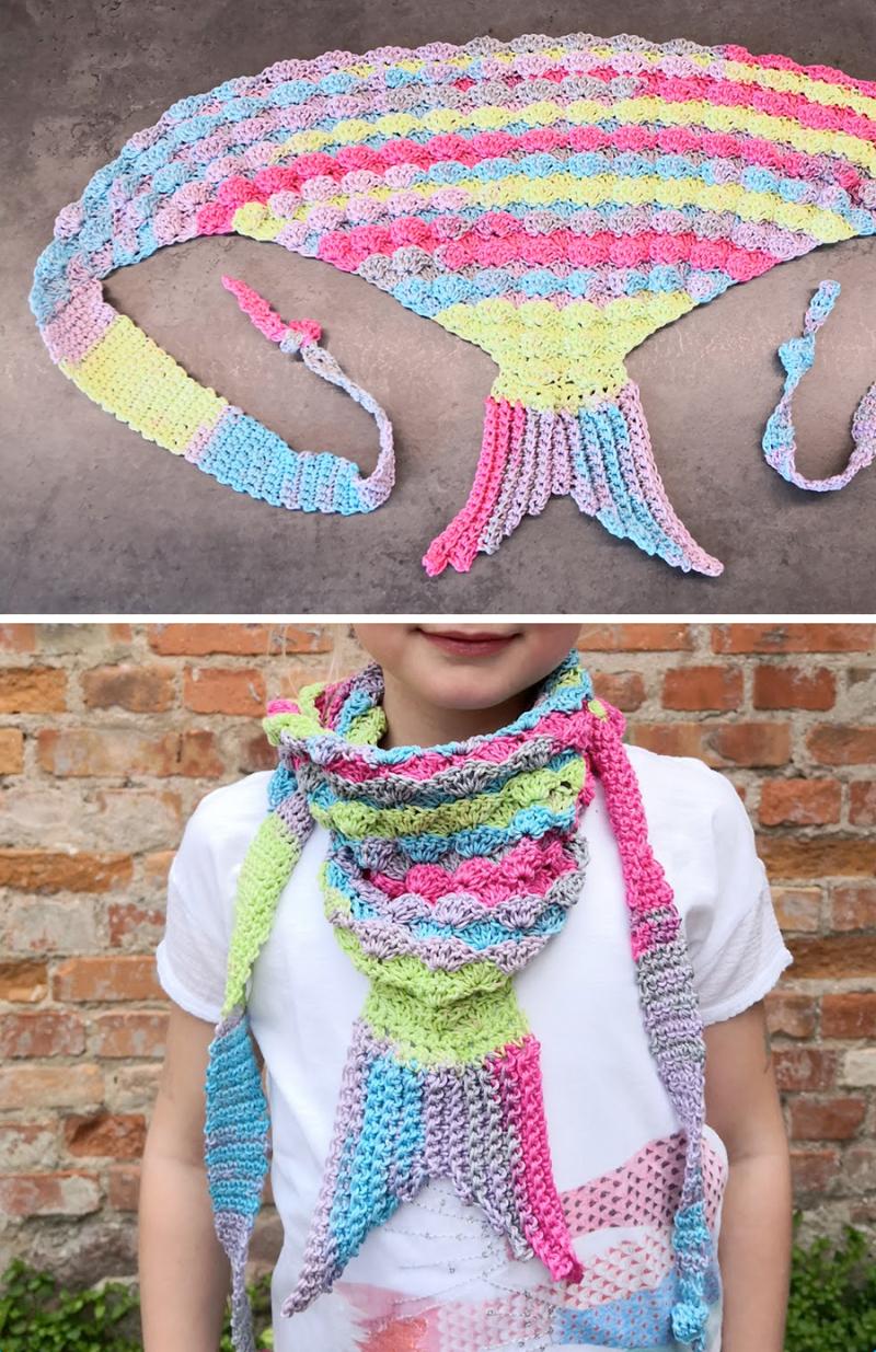 Crocheted-mermaid-tail-scarf