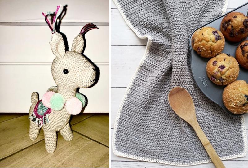 Crocheted-alpaca-doll