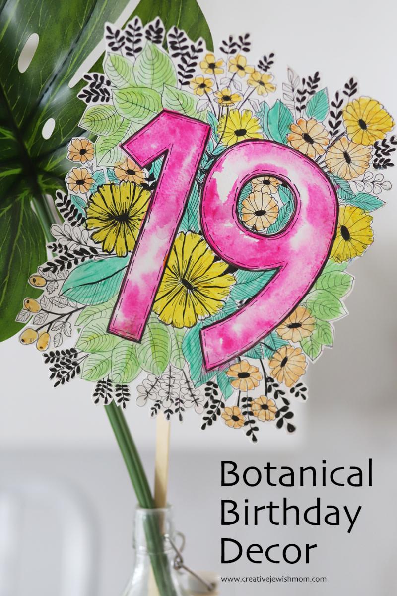 Birthday-botanical-floral-doodle-number
