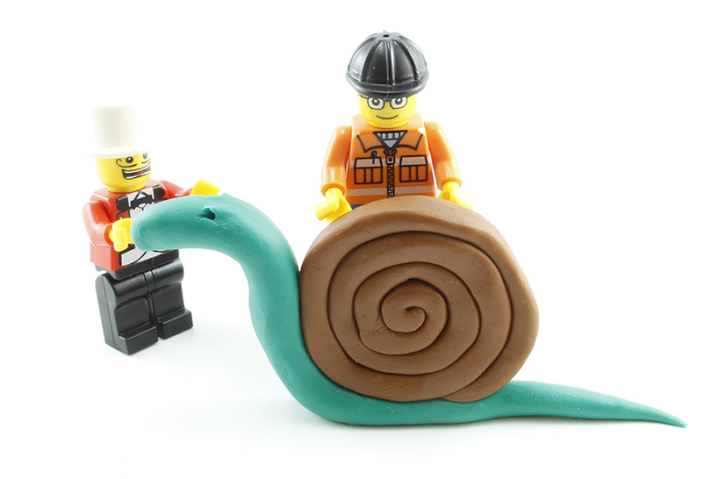 Creativity-lego-with-modeling-clay-kids