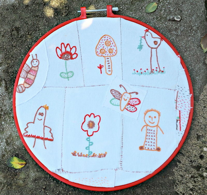Embroidery-from-kid's-drawings