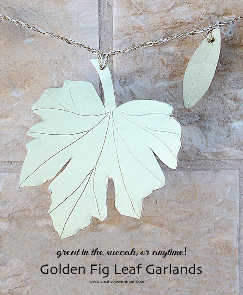 Succah-craft-golden-fig-leaf-garland
