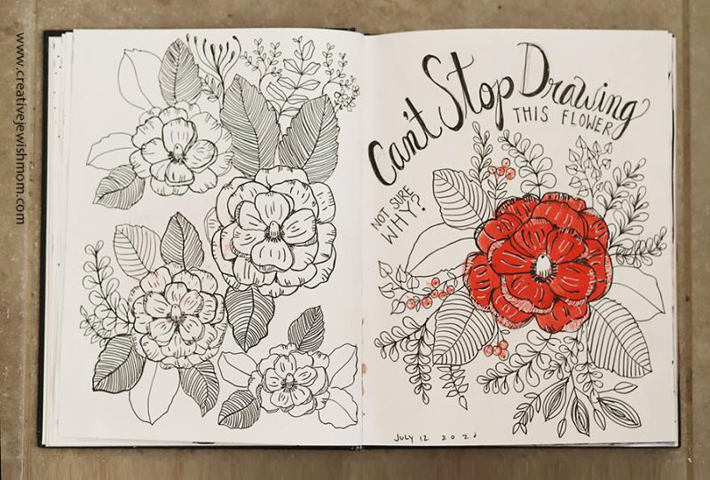 Simple-camelia-doodle-sketchbook