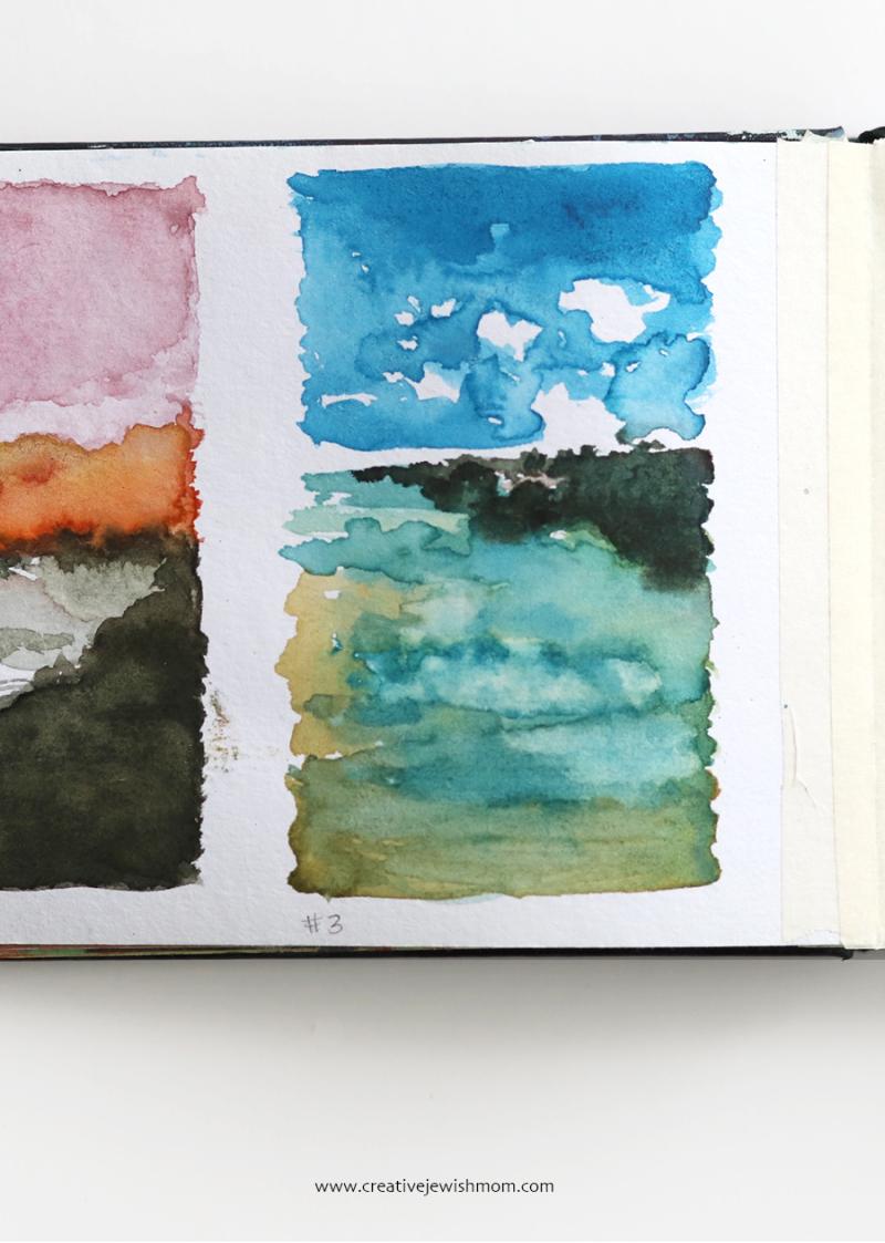 Watercolor-ocean-landscape-sketch