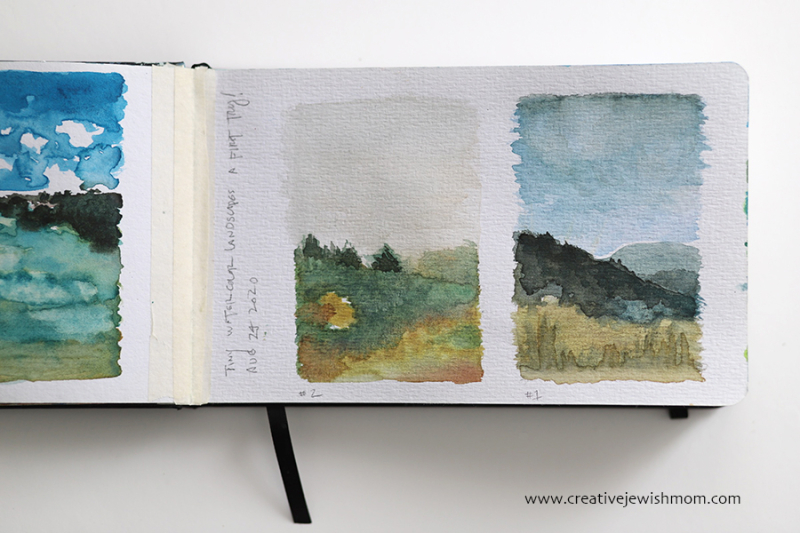Tiny-abstract-watercolor-landscapes