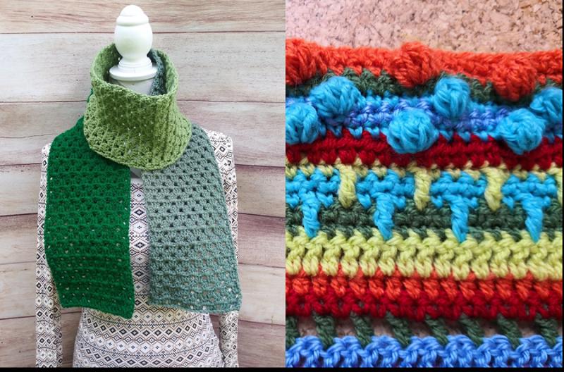 Crochet-granny-stitch-scarf-simple