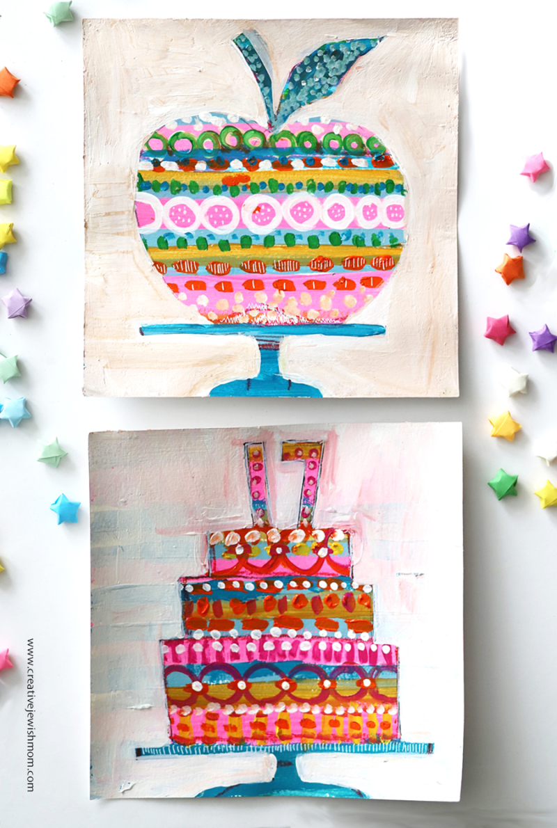 Painted-apple-cake-cards