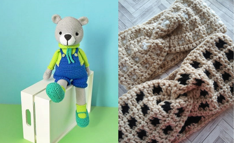 Crochet-teddy-with-overalls