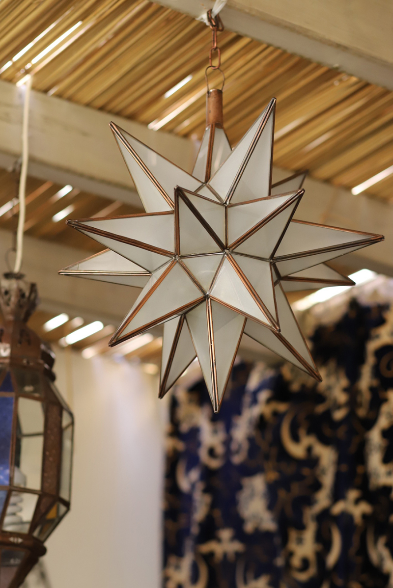 Succah-moroccan-glass-star-fixture