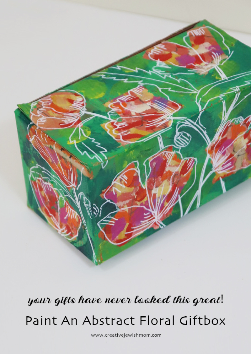 How-to-paint-a-abstract-floral-giftbox