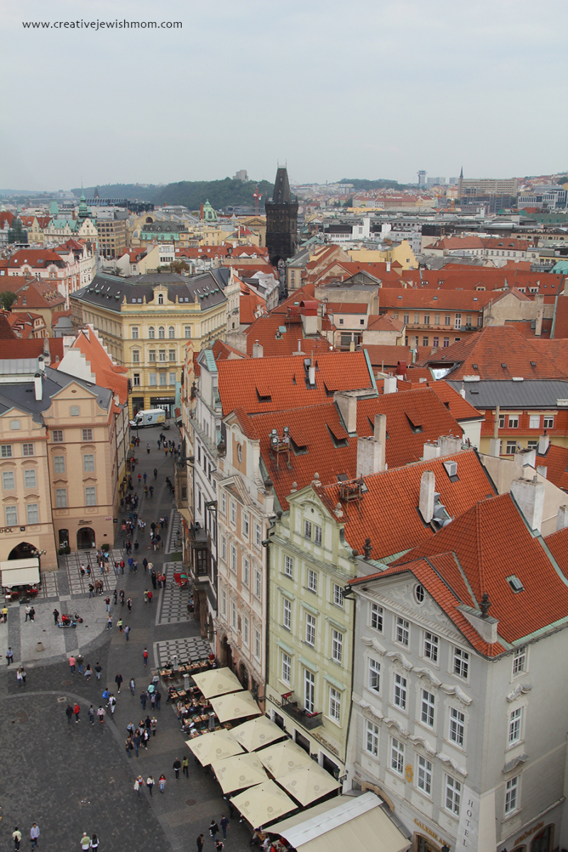 Prague-Old-Town-Hall-Tower- view-towards-Powder-Tower