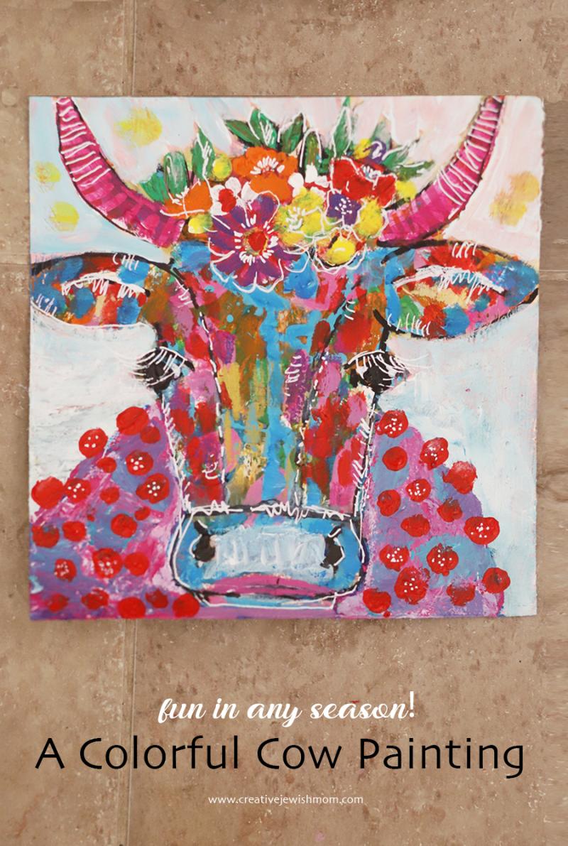 Colorful-painted-cow-portrait
