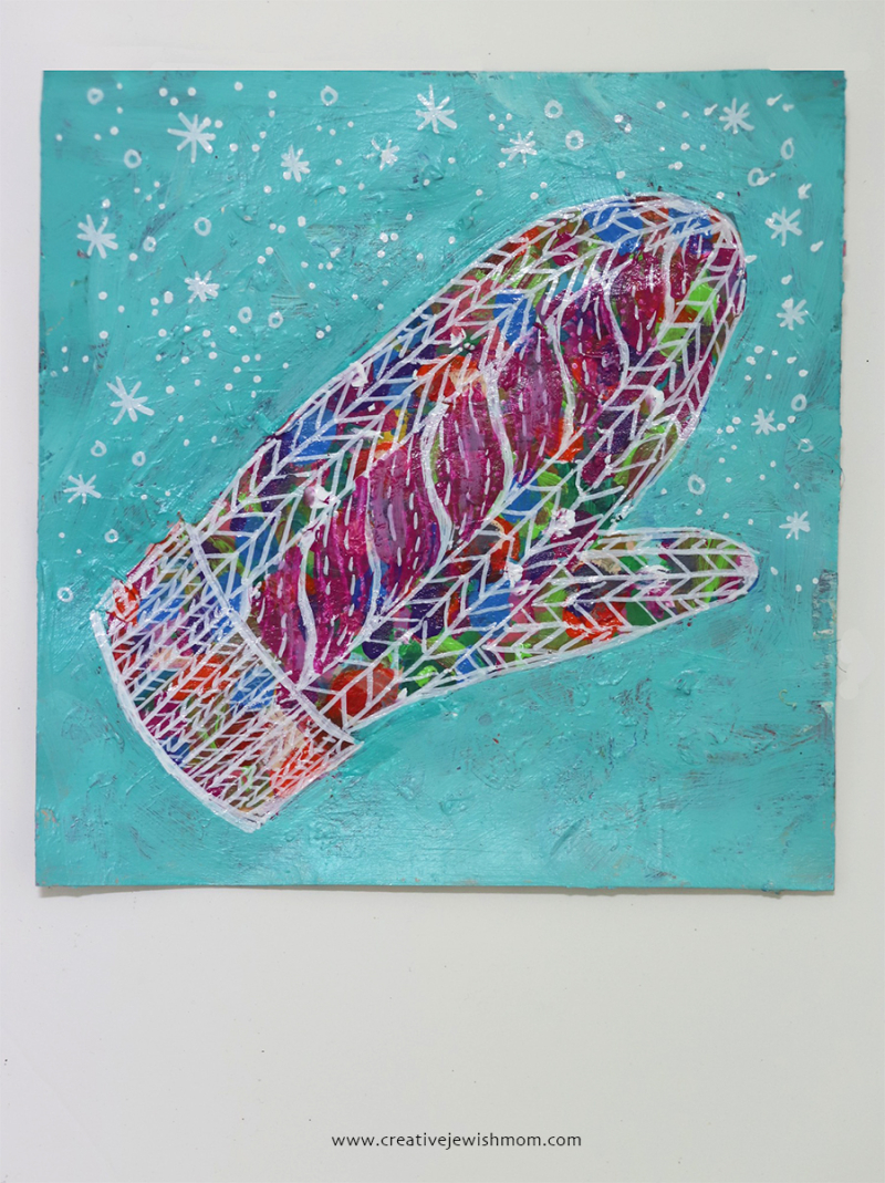 Knit-mitten-illustration-card-craft