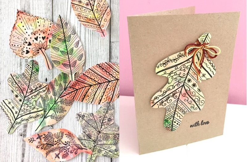 Doodle+paper+fall+leaves