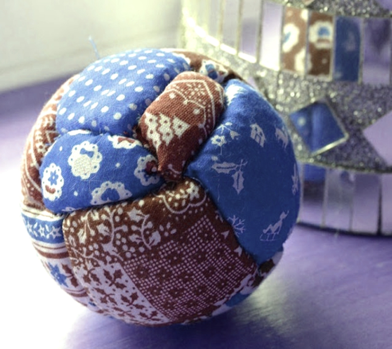 No-sew-styrofoam-ball-patchwork-ornament