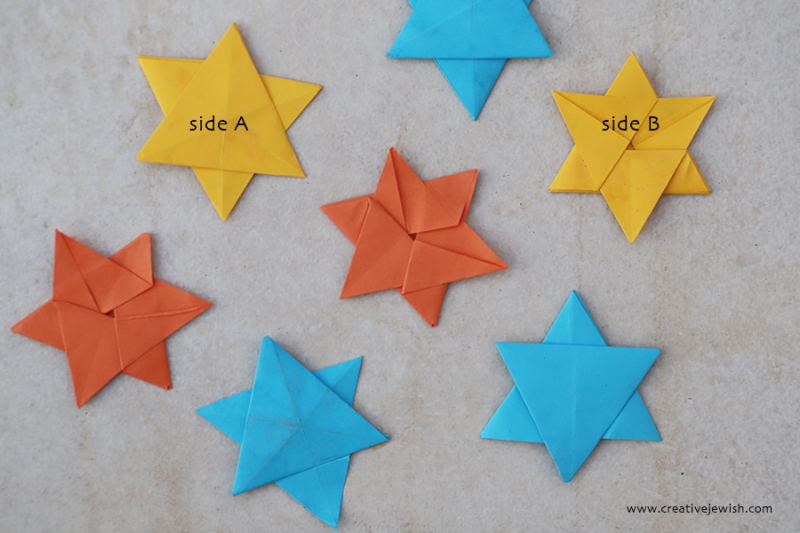 Origami-star-of-david-two-sides
