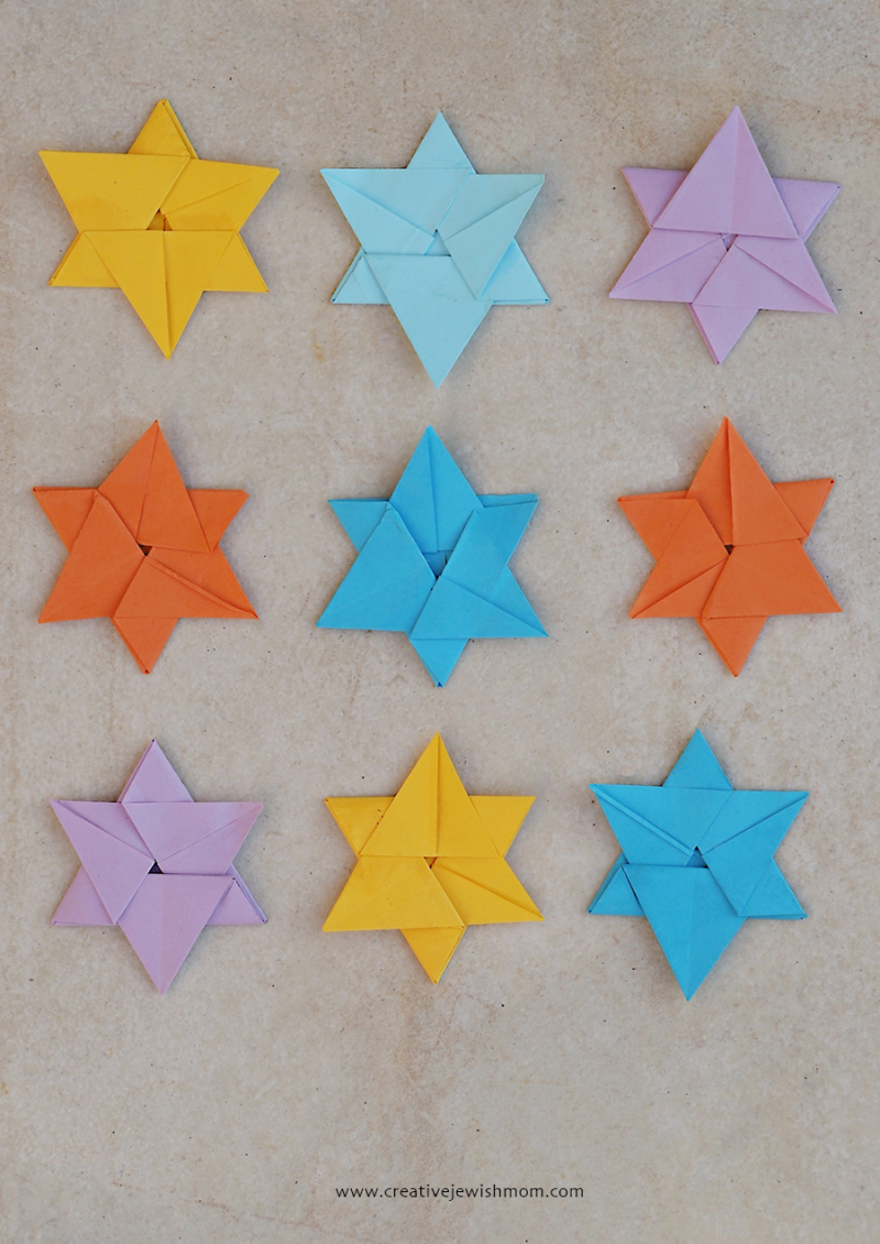 Origami-star-of-david-in-3-minutes