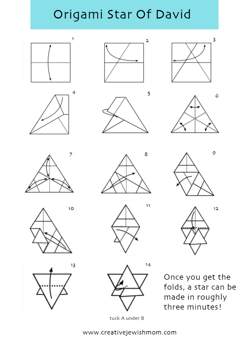 Origami-star-of-david-folding-instructions