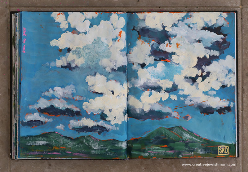 Clouds-over-mountain-painting-sketchbook