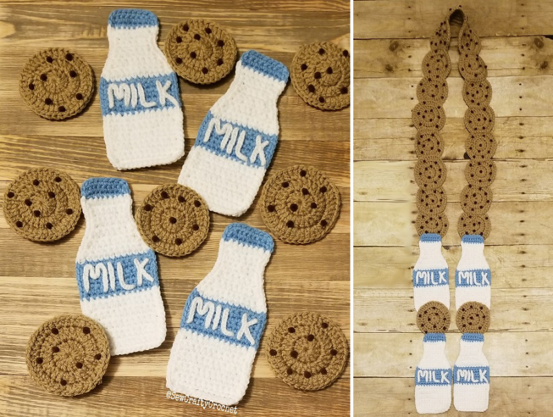 Cookies-and-milk-crocheted-scarf