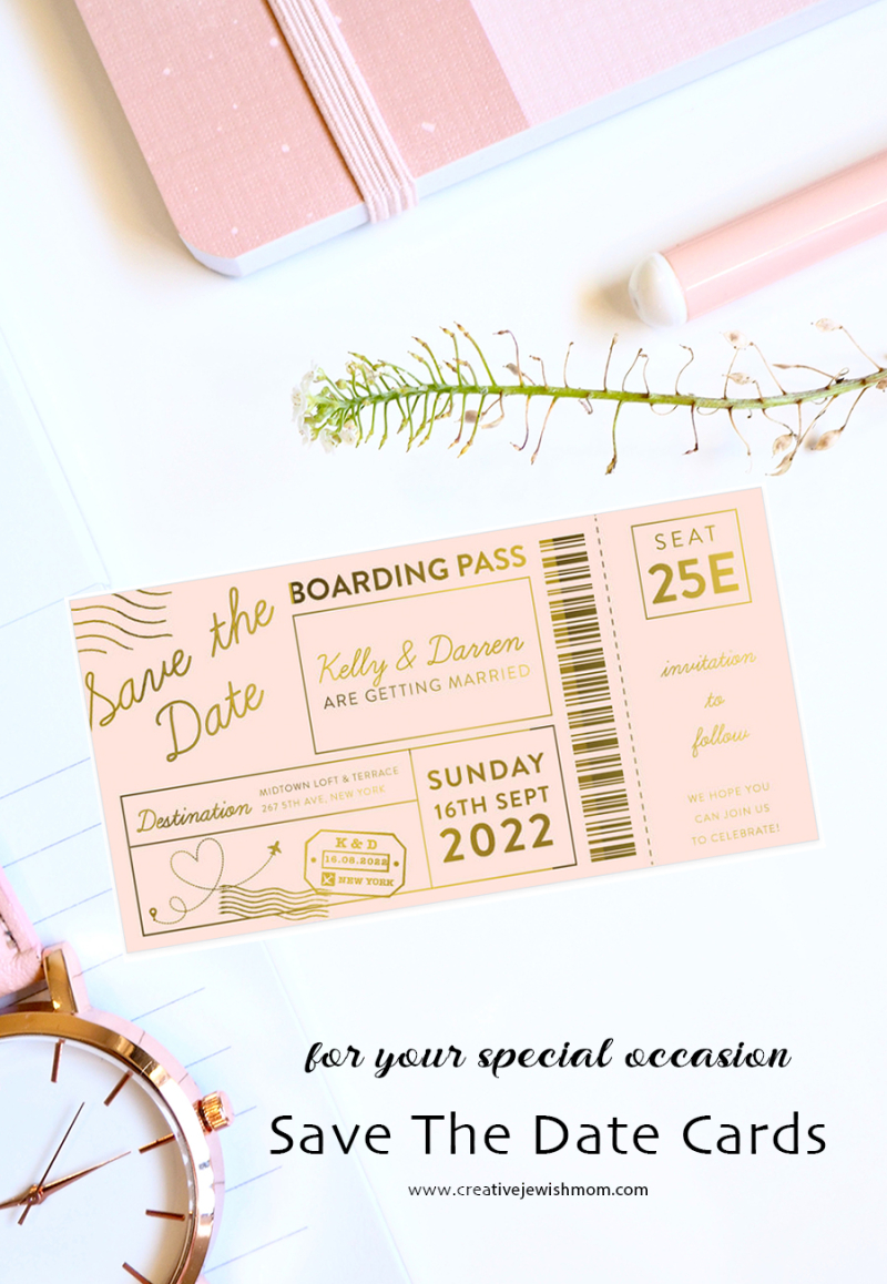 Save-the-date-boarding-pass-card