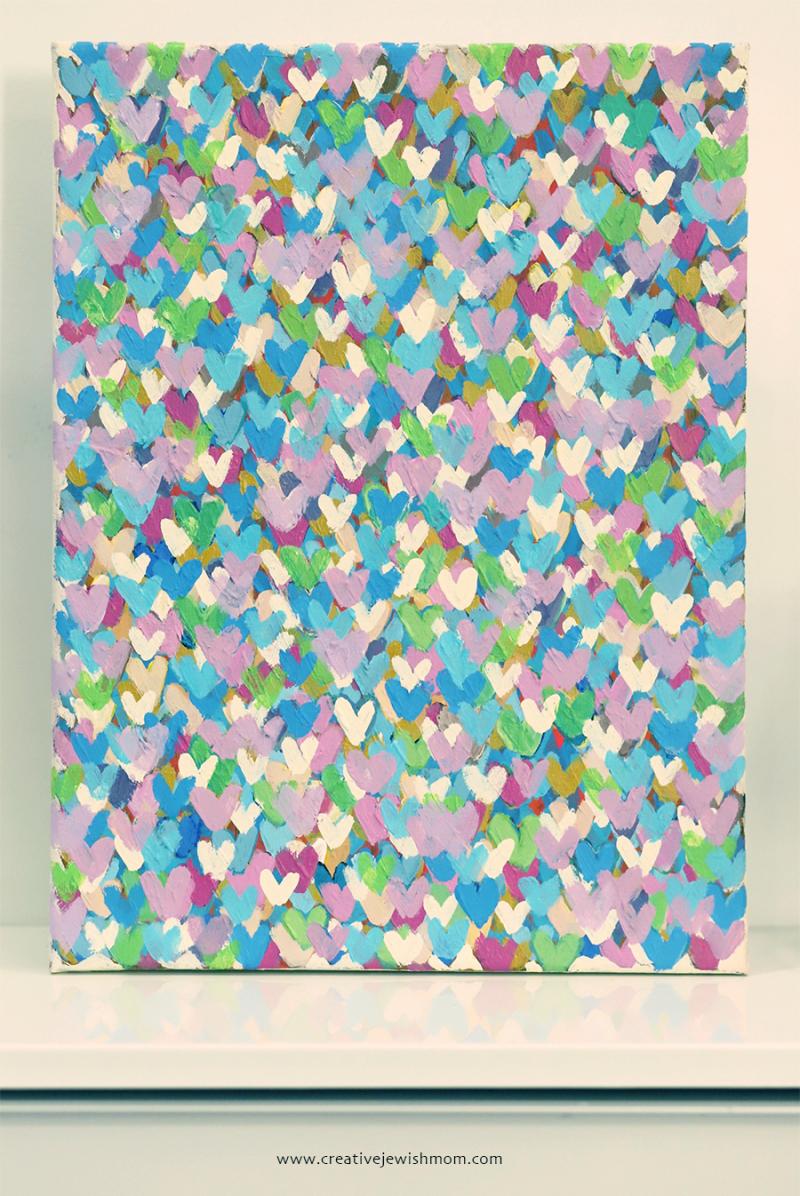 Hearts-graffiti-painting-pastels