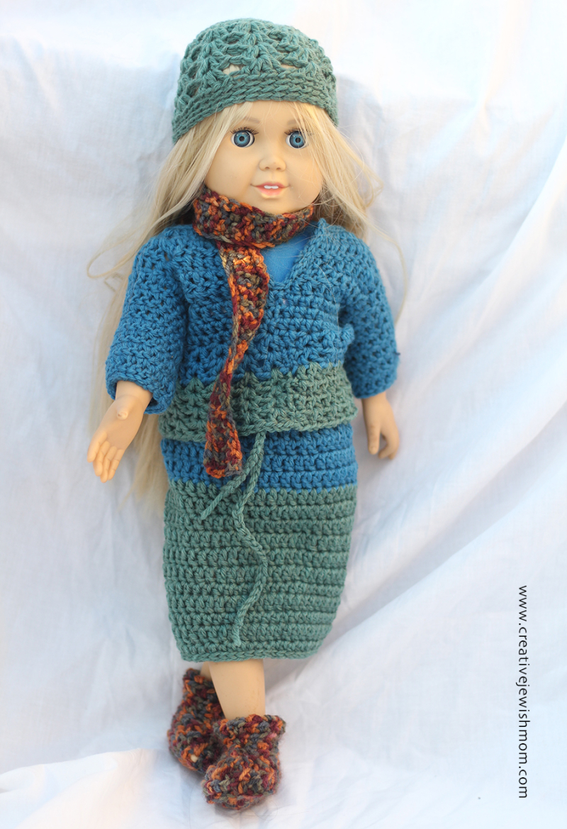 Crocheted-american-doll-booties