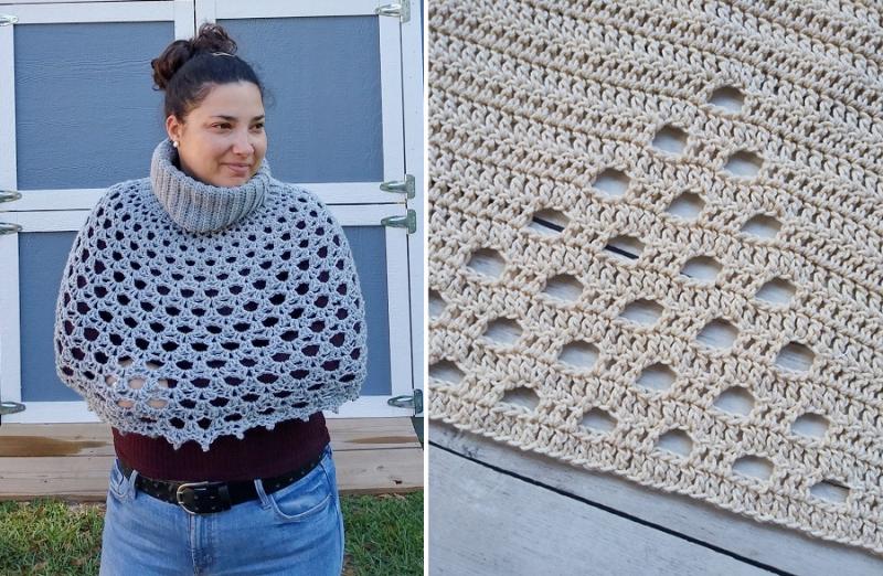 Crochet-open-stitch-poncho