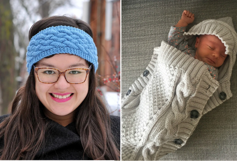 Knit-cabled-baby-cocoon