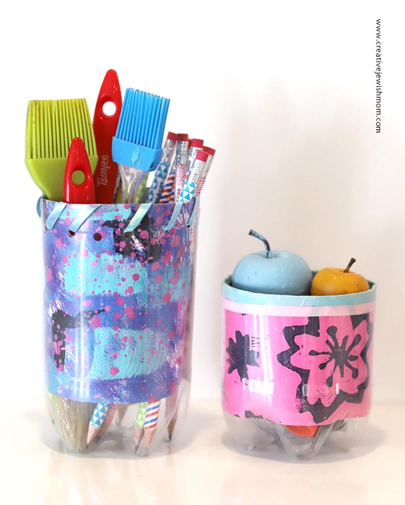 Recycled-bottle-organizer