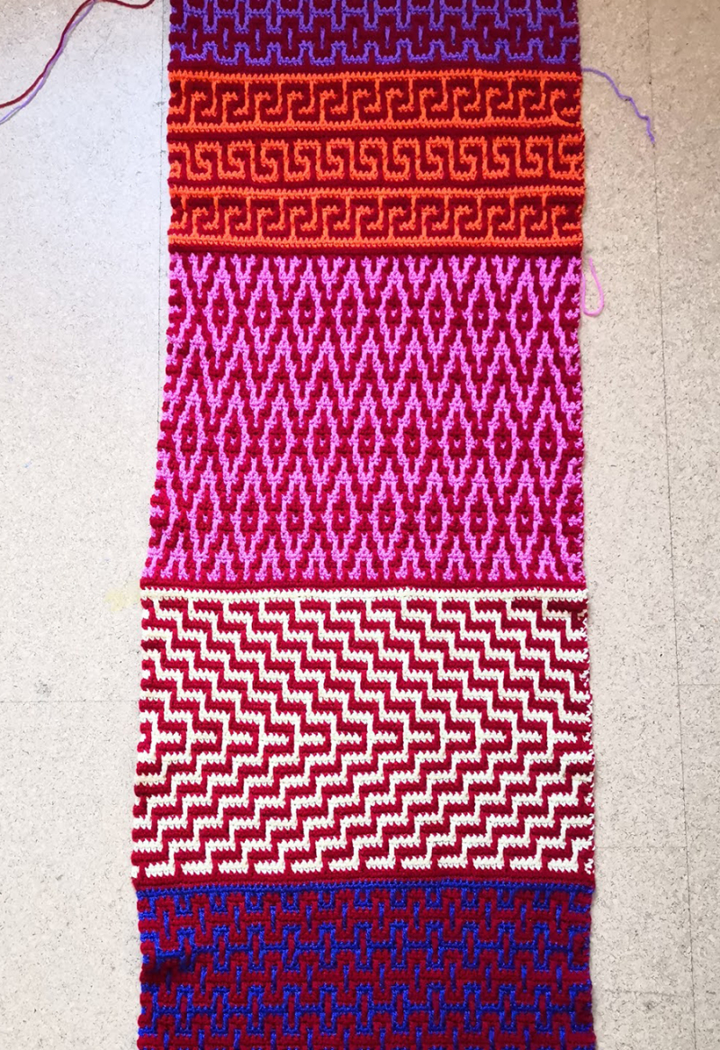 Crochet-mosaic-stitch-panel