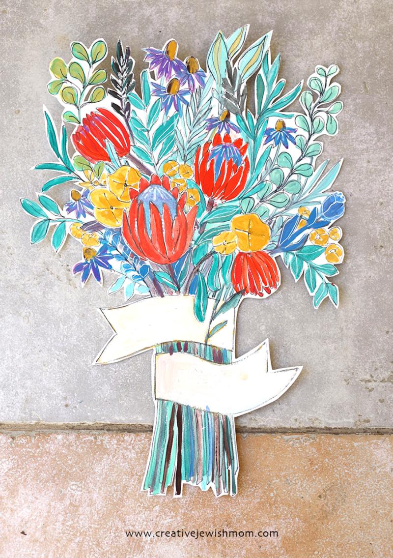 Gouche-flower-bouquet-cut-out
