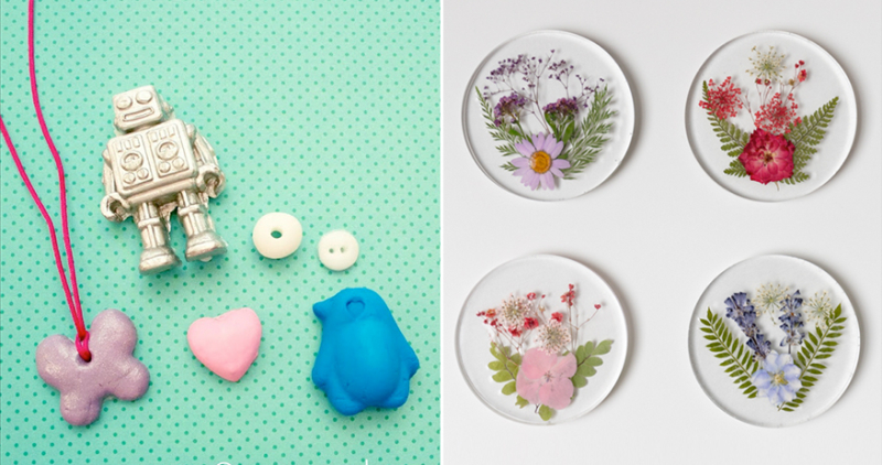 Resin-coasters-with-pressed-flowers
