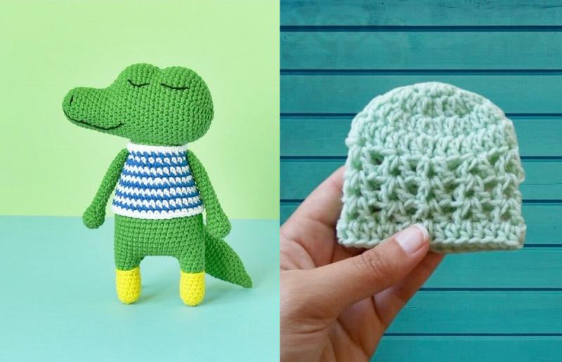 Crocheted-flat-crocodile