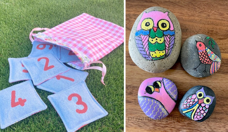 Rock-painting-owls