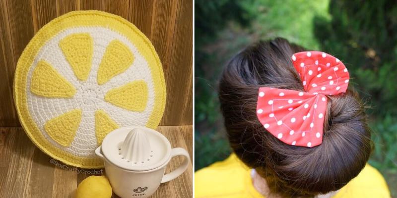 Crocheted-lemon-pillow