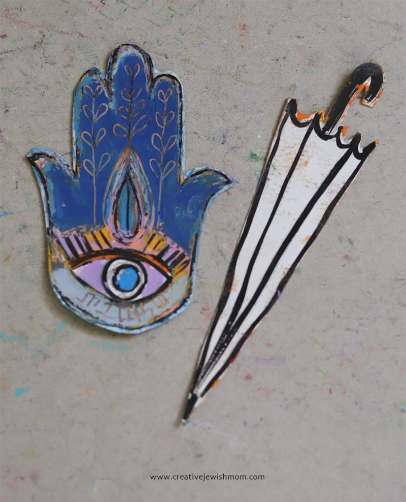 Hamsa-umbrella-cutout