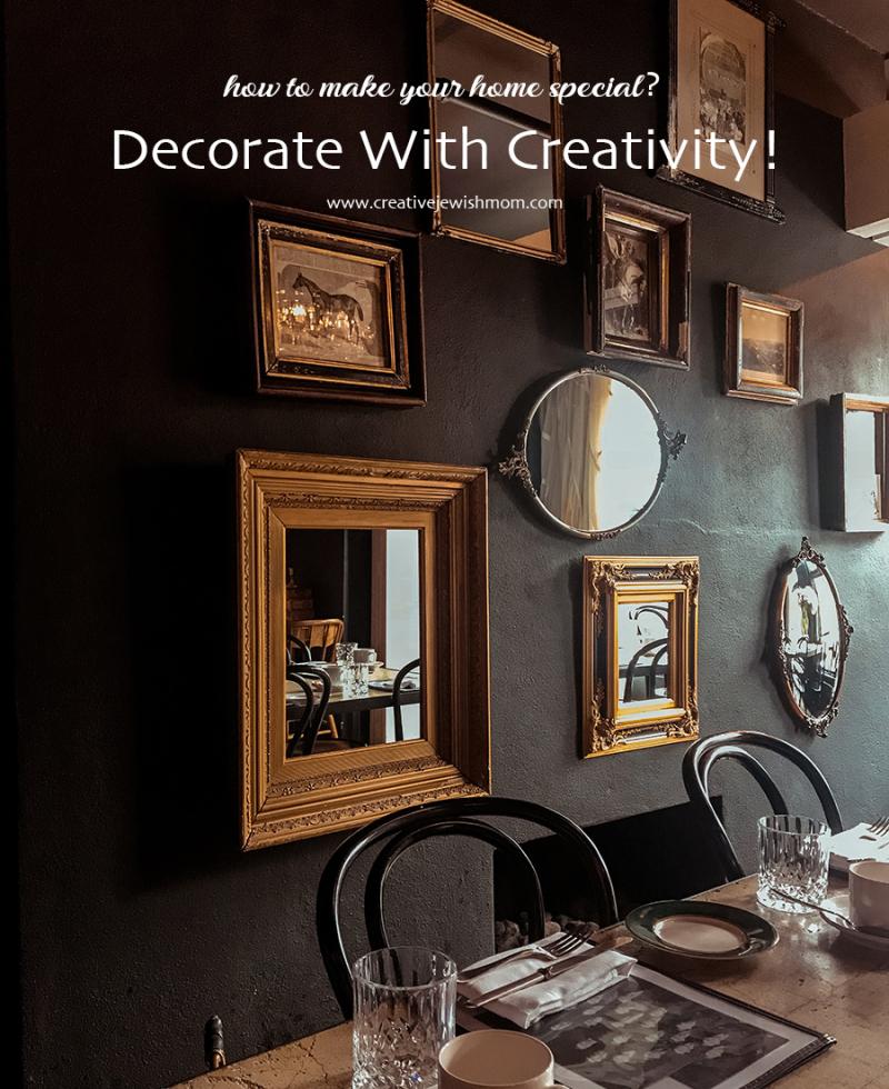 Home-design-black-wall-gold-frames