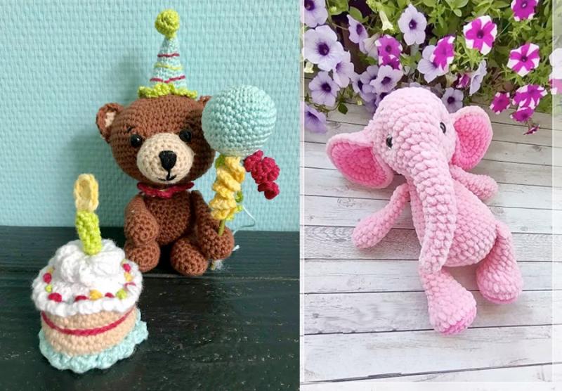 Crocheted-pink-elephant