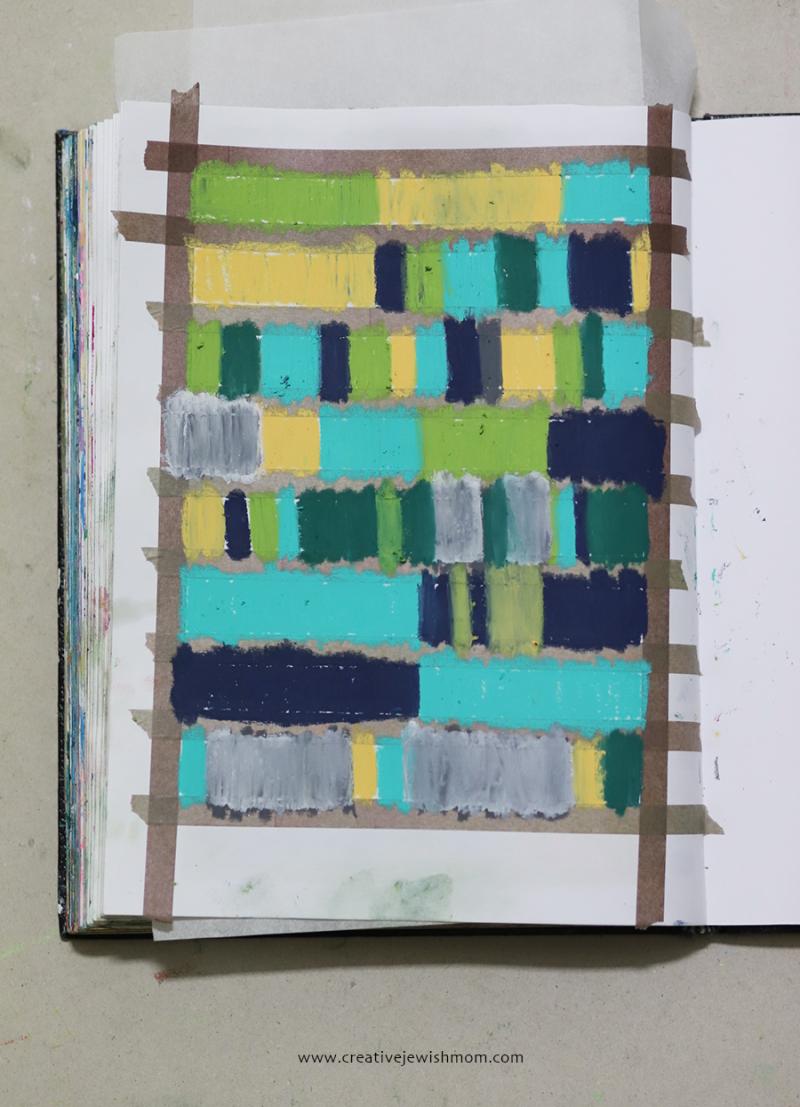 Geometric-color-swatch-art